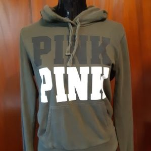 PINK v/s Army Green Sweatshirt Size Small
